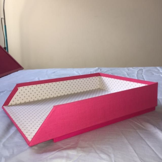 Pink Lamp, Pin Board & Table Tray