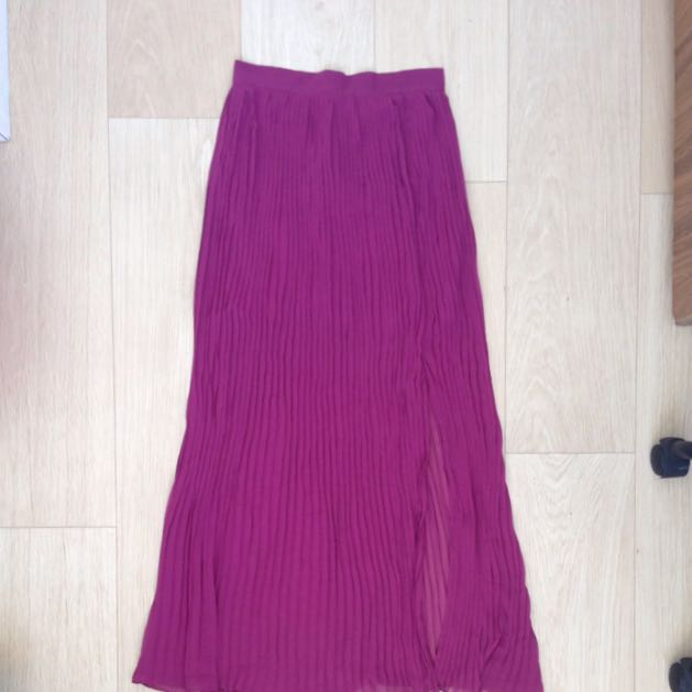 Pleated Ankle Length Maxi Skirt Size 6-8