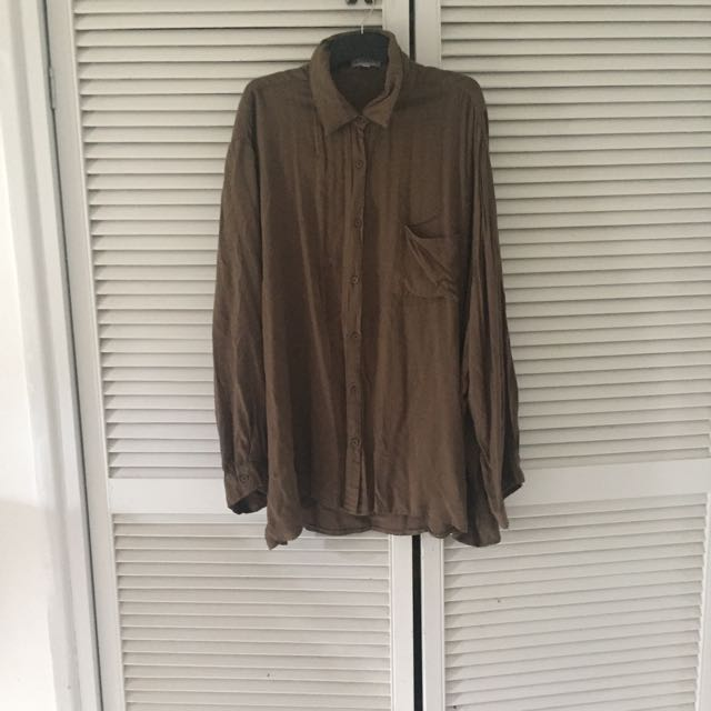 Plus Size Brown Top ASOS CURVE