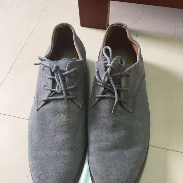 PSGB灰色麂皮百搭休閒鞋