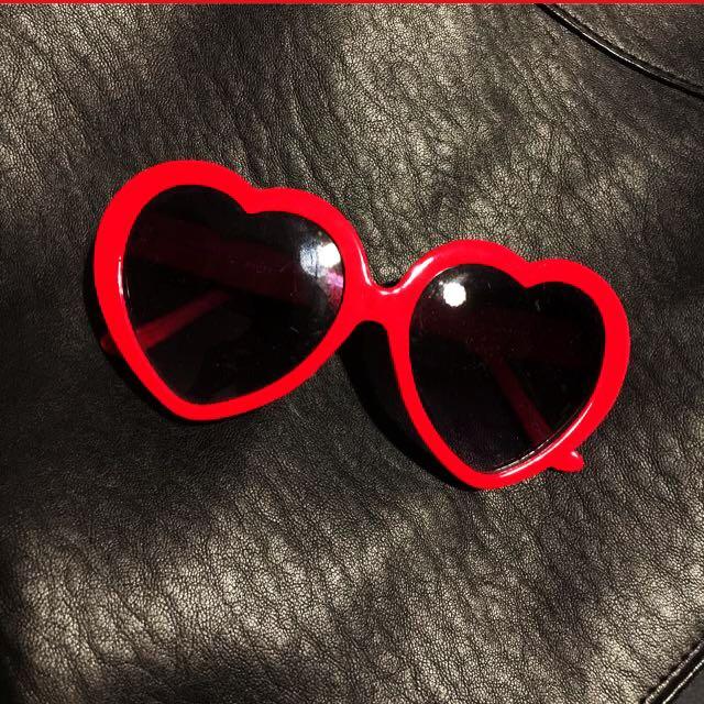 Red Love Heart Sunglasses
