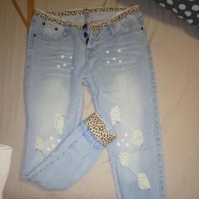 Regular Rise Boyfriend Jeans