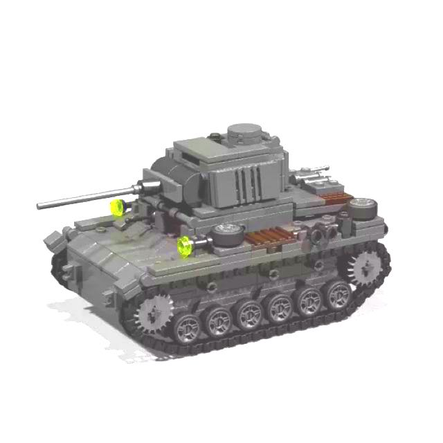 Ready-Built LEGO Compatible German WWII Panzer III, Toys