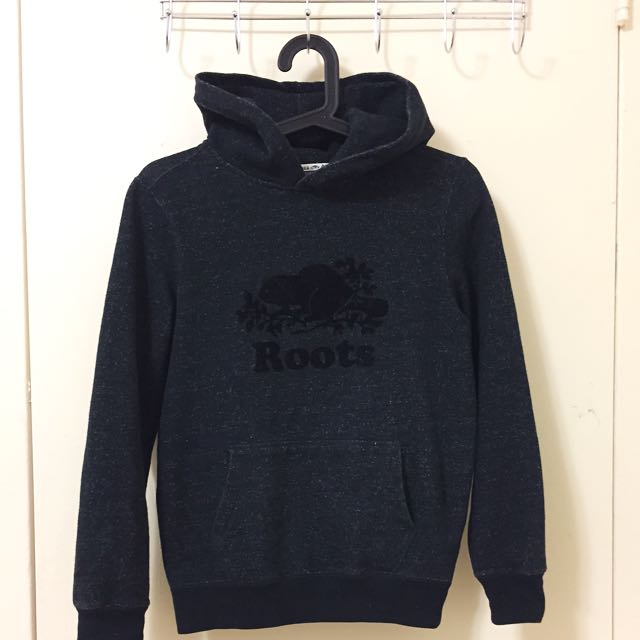 ROOTS Black Pepper Kanga Hoody