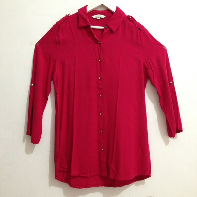 SHIRT PINK(preloved)
