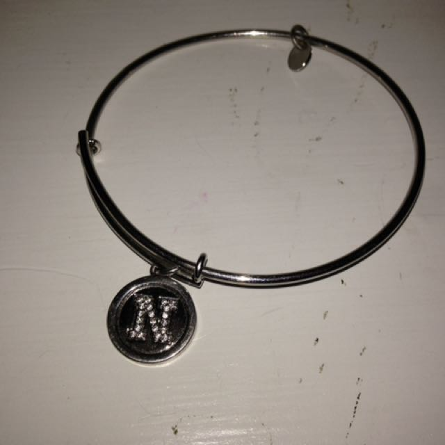 """Silver Bracelet With Incrusted """"N"""""""