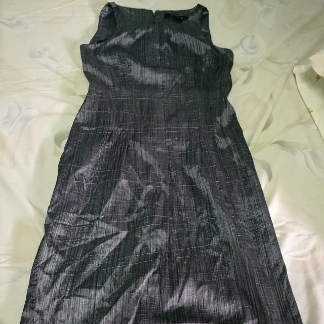 Silver Cute Dress Metallic