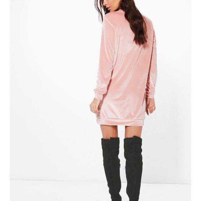 Size 12 BOOHOO Velvet Jumper Dress