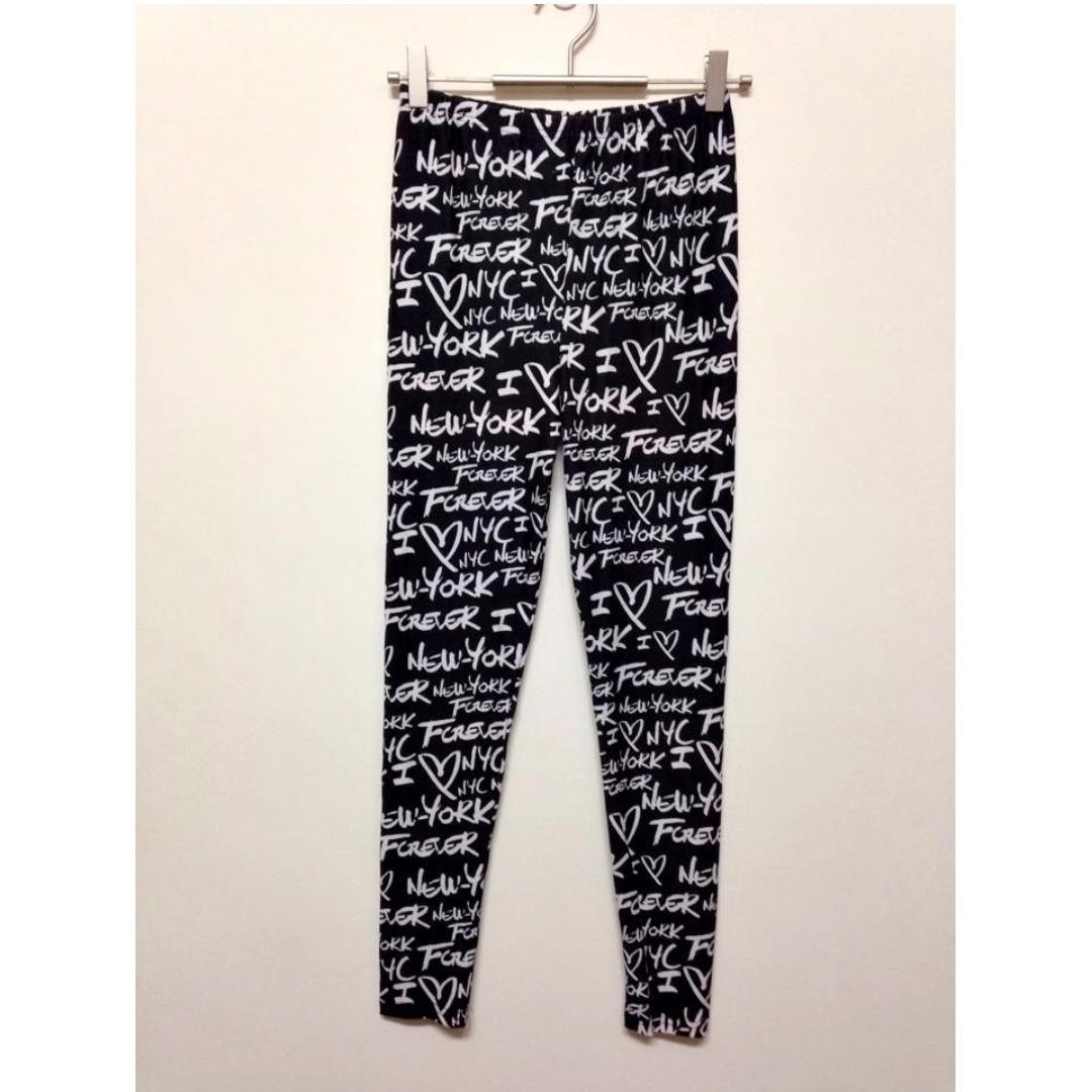 全新💛轉賣~Smooches 歐美滿版英文字母棉質內搭褲