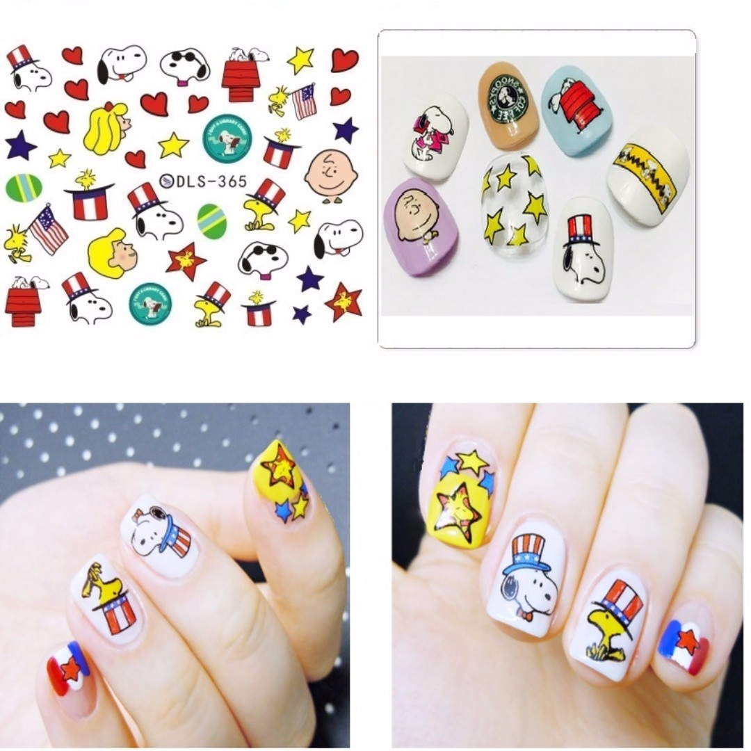 Snoopy Nail Stickers Art Dls 365 Health Beauty Hand Foot Care On Carou