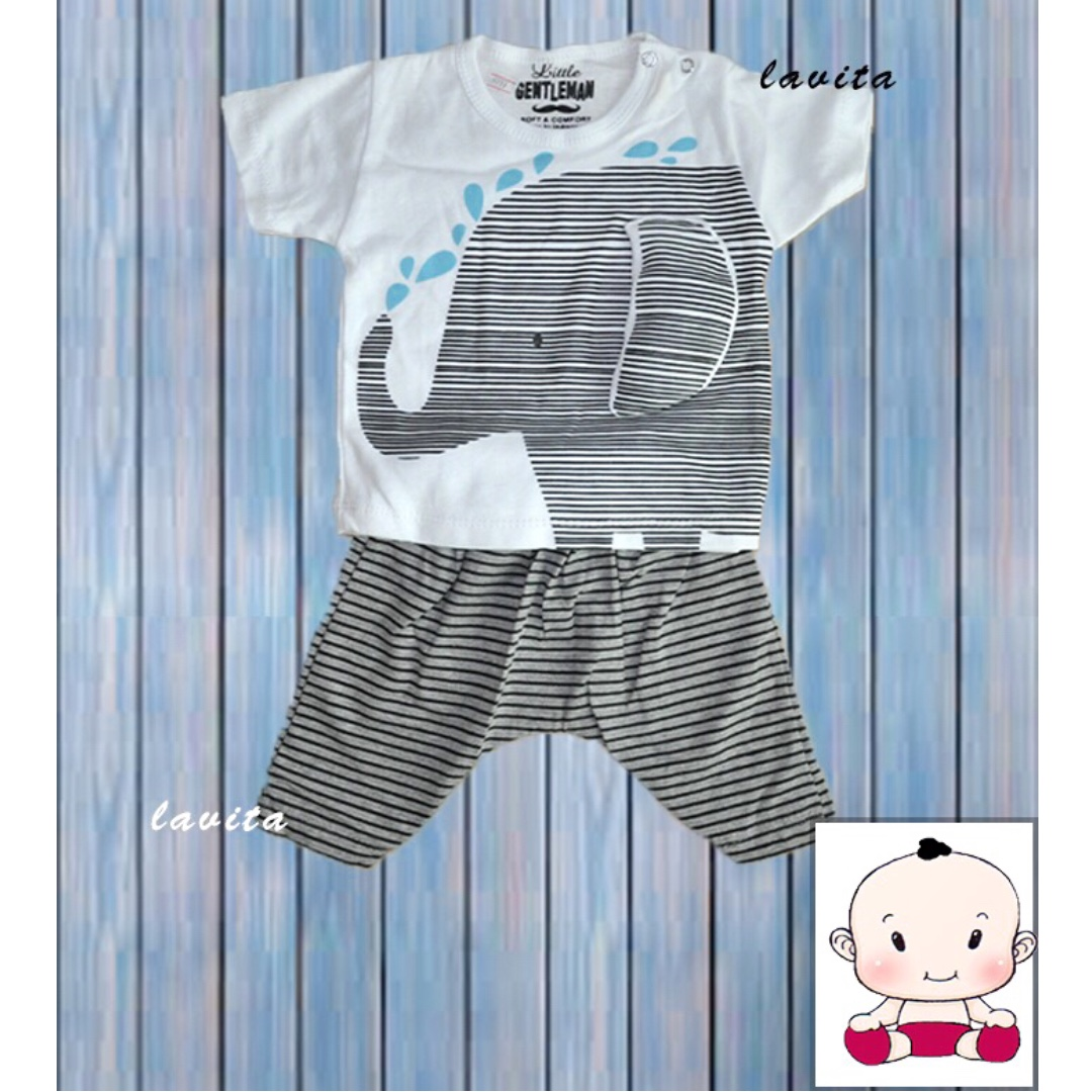 Stelan Little Gentleman Motif Gajah