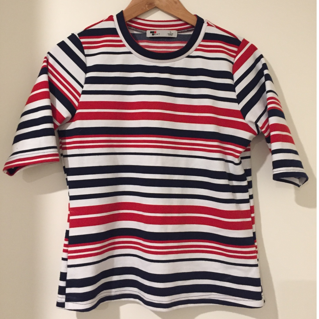 Striped 3/4 Top