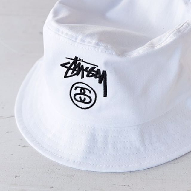 db7d2eb5967c2 🥗GONE🥗Stussy Stock Lock Bucket Hat White