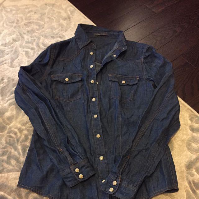 Suzy Shier Denim Button Up
