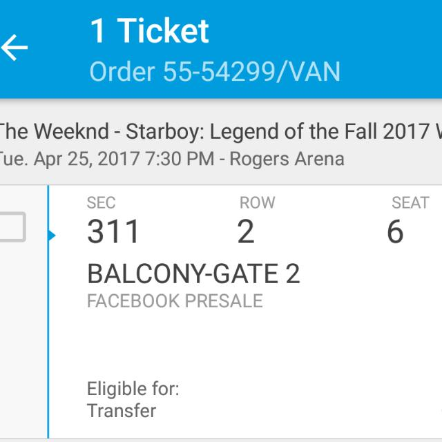 The Weeknd Ticket