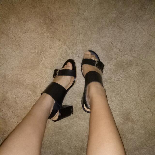 Topshop Leather Block Heels