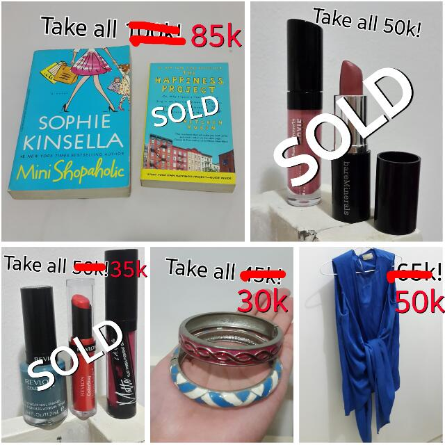 UPDATED PRICES FOR BOOKS, COSMETICS, BLOUSE & BRACELET