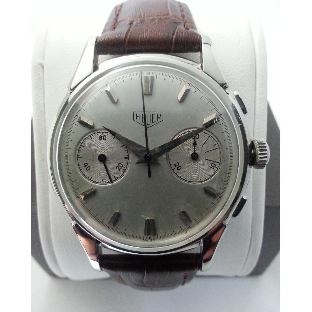 4b358ec28b7 Vintage 50 s Heuer Valjoux 23 Chronograph men Watch