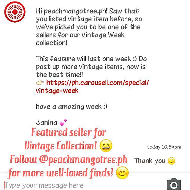 FEATURED SELLER. Vintage Week Collection! @peachmangotree.ph