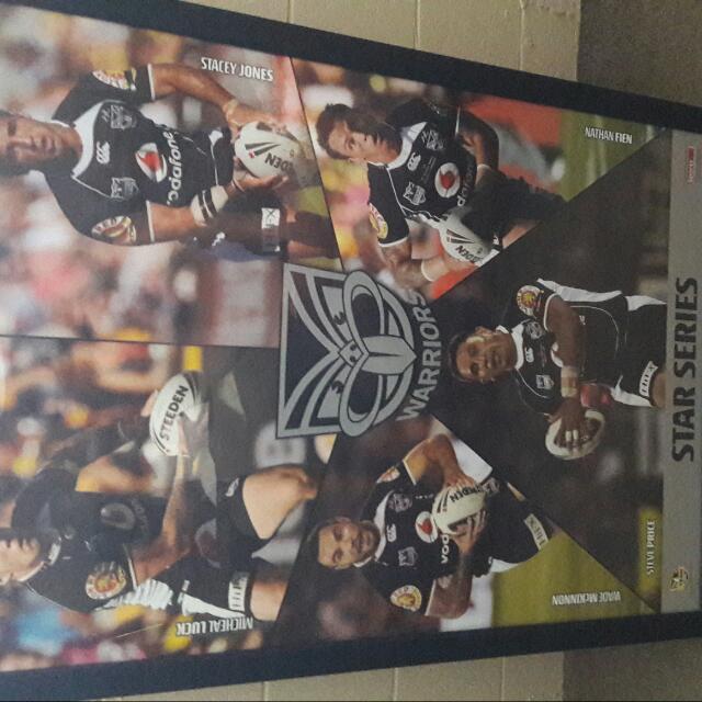 Warriors Stars Series Framed Print