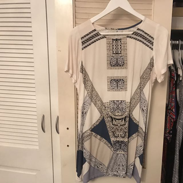 White And Blue Stussy Dress