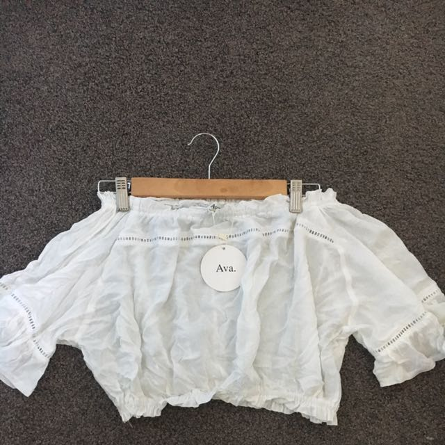 White Crop Top - Ava