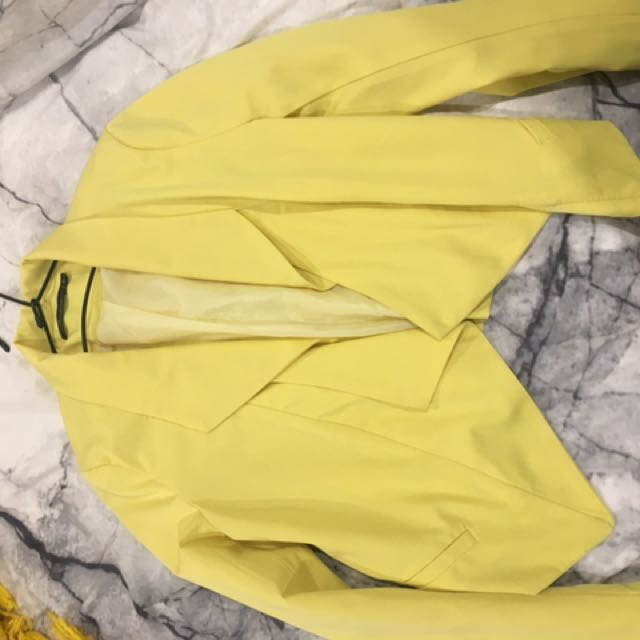 Yellow Blazer jacket
