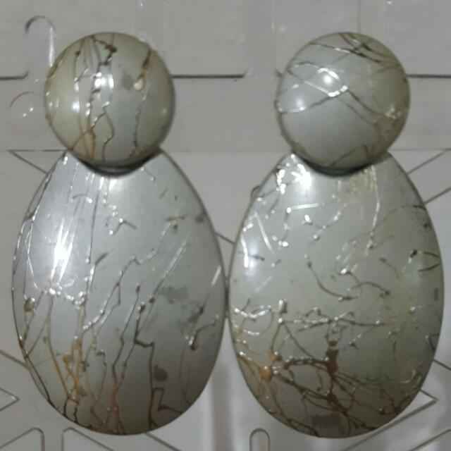 YRYS Silver Earrings (with detail)