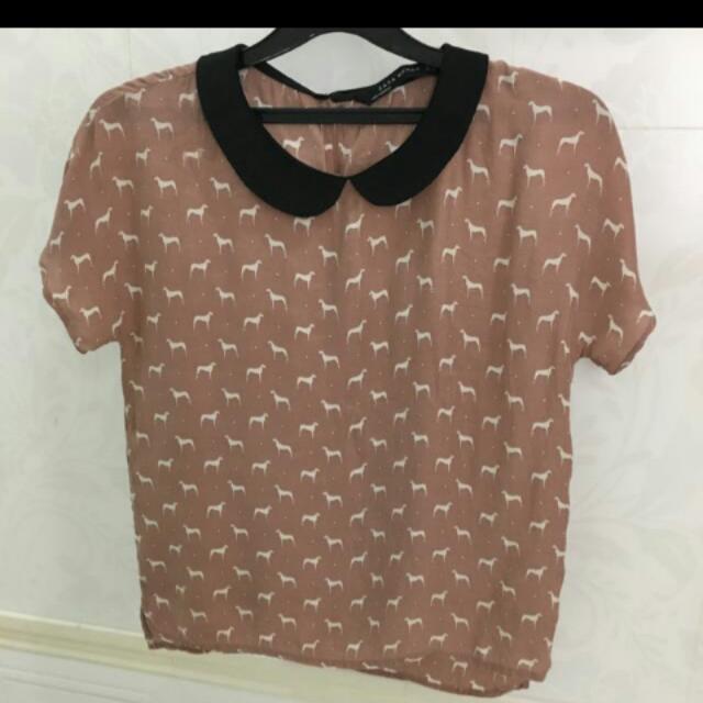 Zara colar shirt