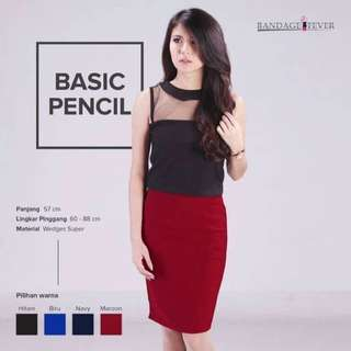 Rok, Rok Span, Rok Pendek, Skirt , Midi Skirt , Rok Merah