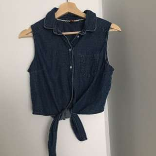 Crop Denim Summer Top