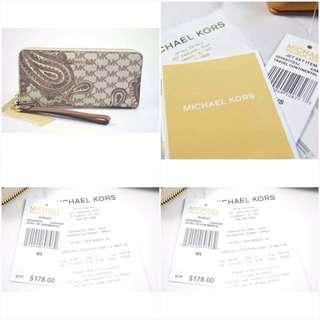 Michael Kors Continental Wallet Paisley