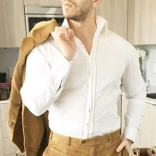Italian Made Slim fit White Dress Shirt