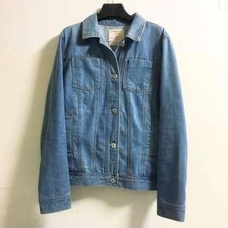 Giordano 淺藍刷色牛仔外套