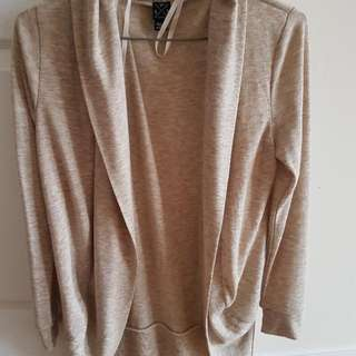 Beige Color Small Size Open Cardigan