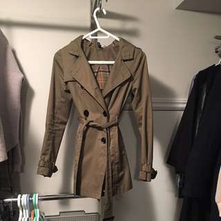 H And M Khaki Trench Coat