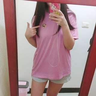 蜂蜜吐司 刺繡 粉紅色 上衣 T恤 韓系 #一百元上衣
