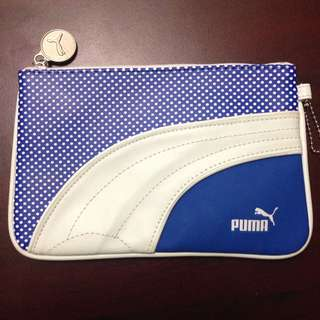 Puma Blue & White Makeup Bag