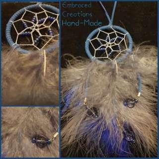 Hand-Made Beaded Dreamcatcher Blue