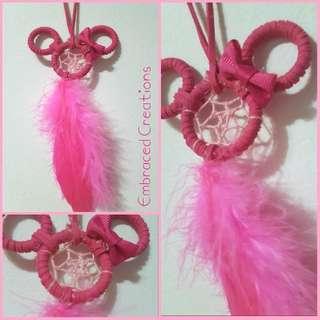Hand-Made Pink Minnie Dreamcatcher
