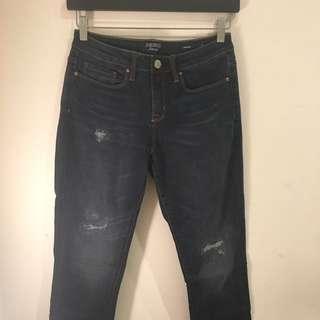 Price Drop!! Jeans [10] Dark Indigo Distressed 'Slim Boyfriend'