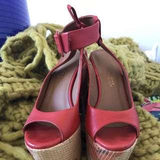 Size 7 Italian Made Leather Heels