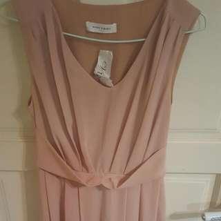 蓮藕粉色紗質洋裝