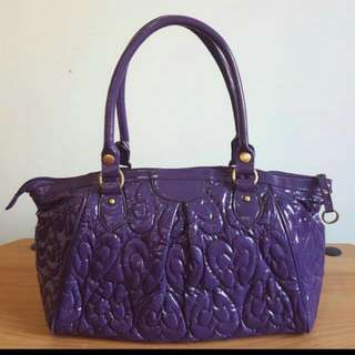 Repriced!! Preloved Purple Bag From Japan