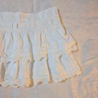 Mango White Mini Skirt (Size XS)
