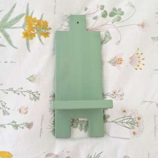 IKEA mini Shelf Green Candle Holder Display Decor