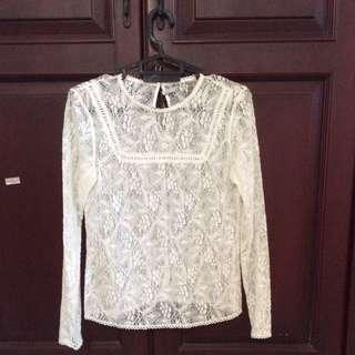 stradivarius - white top