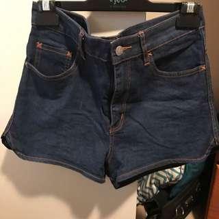 High Waisted Lee Denim Shorts