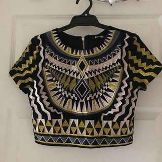 Tribal Embroided Crop Top