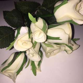 Fake Bouquet Of White Roses